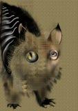 Animal abstracto extraño stock de ilustración