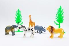 Animal african model isolated on white background, animal toys stock photo
