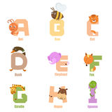 Animal AI d'alphabet Image libre de droits