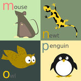 Animal alphabet Stock Images