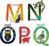 Animal Alphabet Stock Photos