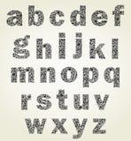 Animal alphabet. The alphabet made of animals. A vector illustration Royalty Free Stock Photos