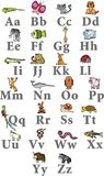 Animal alphabet. Vector images on white background Royalty Free Stock Images
