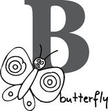 Animal alphabet B (butterfly) Royalty Free Stock Photography