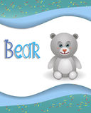 Animal alphabet bear Royalty Free Stock Photo