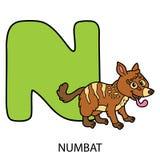 Animal alphabet card. Stock Photos