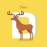 Animal Alphabet Concept in Flat Design Royalty Free Stock Photos