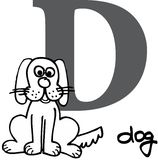 Animal alphabet D (dog) Stock Photos