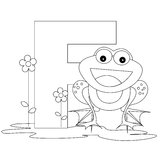 Animal Alphabet F Coloring page Stock Photo