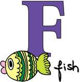 Animal alphabet F (fish) Royalty Free Stock Images