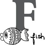 Animal alphabet F (fish). Animal alphabet - letter F (fish Stock Photos