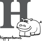 Animal alphabet H (hippo) Stock Photo