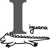 Animal alphabet I (iguana) Stock Photos