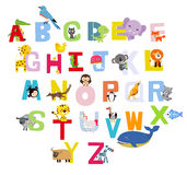 Animal alphabet. Illustration of Cute Animal Alphabet Stock Photos