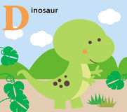 Animal alphabet for the kids: D for the Dinosaur Stock Photography