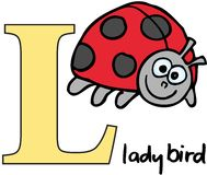 Animal alphabet L (ladybird) Royalty Free Stock Images