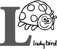 Animal alphabet L (ladybird) Royalty Free Stock Photos