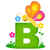 Animal alphabet letter B stock illustration