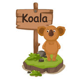 Animal alphabet letter K for koala Royalty Free Stock Images