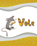 Animal alphabet letter V and vole. With a colored background Royalty Free Stock Photography