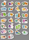 Animal alphabet letter a-z. Illustration of animal alphabet letter a-z Stock Photo