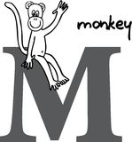 Animal alphabet M (monkey) Stock Photo