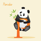 Animal alphabet with panda. Vector illustration Royalty Free Stock Images