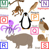 Animal alphabet, part 3 of 4. M to S animals, for other letters please see my port Stock Image