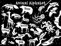 Animal alphabet poster for children. Animals Stock Photo