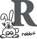 Animal alphabet R (rabbit) Stock Photos