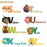 Animal alphabet 4 Royalty Free Stock Photo