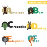 Animal alphabet. set 1 Royalty Free Stock Image