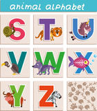 Animal alphabet. Vector Animal Alphabet. Letter. Cartoon. Isolated objects Royalty Free Stock Image