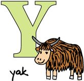 Animal alphabet Y (yak) Stock Photo