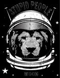 Animal astronaut suit. Hand drawn vector illustration. Fashion style Stock Photography