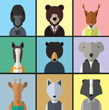 Animal Avatar Icon Set Stock Photos