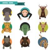Animal avatars. Vector Illustration Royalty Free Stock Images