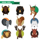 Animal avatars. Vector Illustration Stock Images