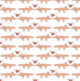 Animal background - foxes in love Royalty Free Stock Image