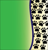 Animal background green. Animal tracks on a green background Stock Image