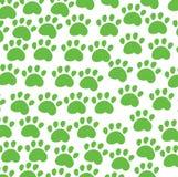 Animal background green. Traces animal on white background Stock Photo