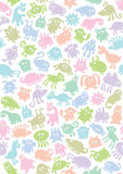 Animal Background 2. Background with many different fantasy animals, can use as pattern Stock Photos