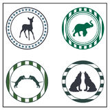 Animal badges. On white background Stock Image