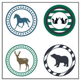 Animal badges Royalty Free Stock Images