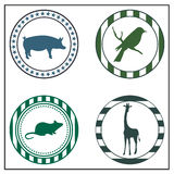 Animal badges Stock Photo