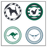 Animal badges. On white background Stock Images