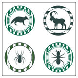 Animal badges Stock Images