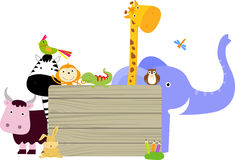 Animal and banner Royalty Free Stock Photo