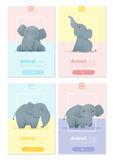 Animal banner with Elephant for web design Royalty Free Stock Photo