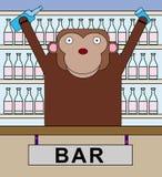 Animal bar tender Stock Photos